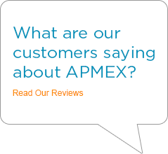 Trust Pilot Reviews for APMEX. Customers review APMEX's precious metals, silver coins, silver bars, gold coins, and gold bars. Rated #1 Specialty eRetailer by Internet Retailer Magazine.