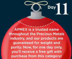 APMEX products w/free APMEX promotional item
