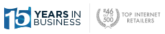 Not only has APMEX been selling precious metals for 15 years, the Internet Retailer ranks APMEX #46 out of 500 online retailers.