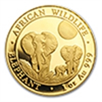 Gold Elephants African Wildlife Series