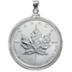 Silver Maple Leaf Pendants