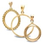 14K Gold Coin Bezels