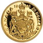 Royal Canadian Mint(Vintage Gold Coins)1967 - 1908
