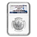 Certified Canadian Silver Maple Leafs (PCGS & NGC)