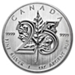 Silver Maple Leaf 25th Anniversary Coins
