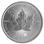 2014 Silver Canadian Maple Leafs