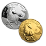 2014 Royal Mint Gold & Silver Lunar Horses