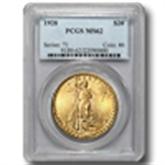 $20 Double Eagle (Saint-Gaudens 1907-33) Certified