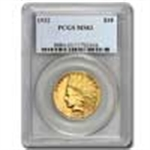 $10 Indian Gold Eagles (1907 - 1933) Certified