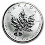 Canadian Silver Maple Leafs (Privy Marked)