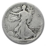 1916-D Walking Liberty Half Dollar - Good