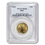 2004 1/4 oz Gold American Eagle MS-69 PCGS
