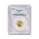 2004 1/10 oz Gold American Eagle MS-69 PCGS
