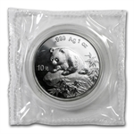 1999 1oz Silver Chinese Panda (Sealed) Small Date