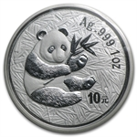 2000 1 oz Silver Chinese Panda - (Sealed) - Frosted