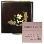 1987 Silver Chinese Panda 1 oz (Proof) (W/Box & Coa)