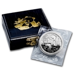 1989 Silver Chinese Panda 1 oz (Proof) (W/Box & Coa)