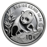 1990 Silver Chinese Panda 1 oz (Proof) (W/Box & Coa)