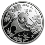 1992 Silver Chinese Panda 1 oz (Proof) - (W/Box & Coa)