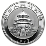 1993 Silver Chinese Panda 1 oz (Proof) (W/Box & Coa)