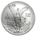 1992 1 oz Silver Mexican Libertad (Brilliant Uncirculated)