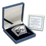 2001 Snake Fan Shaped 1 oz Silver (W/Box & Coa)