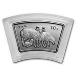 2003 Goat (Sheep) Fan Shaped 1 oz Silver (w/Box & CoA)