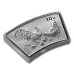 2005 Rooster Fan Shaped 1 oz Silver (w/Box & CoA)