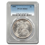 1890 Morgan Dollar - MS-64 PCGS