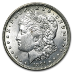 1891-O Morgan Dollar - Almost Uncirculated-58