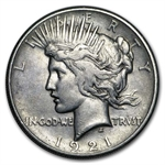 1921 Peace Dollar - XF Details - Cleaned High Relief Style
