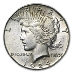 1924-S Peace Dollar - Almost Uncirculated