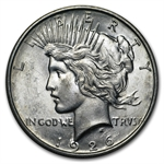 1926-D Peace Dollar - Almost Uncirculated-58