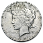 1928 Peace Dollar - Extra Fine Details - Cleaned