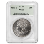 1882-S Morgan Dollar - MS-65 PCGS