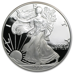 2002-W 1 oz Proof Silver American Eagle (w/Box & CoA)