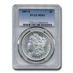 1897-S Morgan Dollar MS-63 PCGS