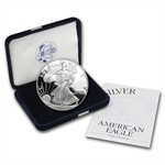 2001-W 1 oz Proof Silver American Eagle (w/Box & CoA)