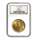 1910-S $20 St. Gaudens Gold Double Eagle - MS-63 NGC