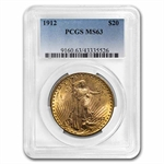 1912 $20 St. Gaudens Gold Double Eagle - MS-63 PCGS