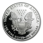 1996-P 1 oz Proof Silver American Eagle (w/Box & CoA)