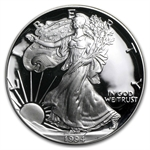 1994-P 1 oz Proof Silver American Eagle (w/Box & CoA)