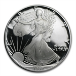 1992-S 1 oz Proof Silver American Eagle (w/Box & CoA)