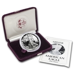 1989-S 1 oz Proof Silver American Eagle (w/Box & CoA)