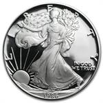 1986-S 1 oz Proof Silver American Eagle (w/Box & CoA)