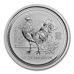 2005 1/2 oz Silver Lunar Year of the Rooster (Series I)