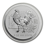 2005 5 oz Silver Lunar Year of the Rooster (Series I)