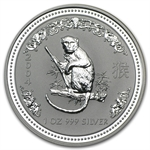 2004 1 oz Silver Lunar Year of the Monkey (Series I)