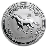 2002 1 oz Silver Lunar Year of the Horse (Series I)
