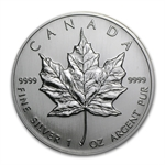 1992 1 oz Silver Canadian Maple Leaf (Brilliant Uncirculated)
